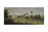View of the New Villa, Old House and Stables from across Burlington Lane, Chiswick Villa Giclee Print by Pieter Andreas Rysbrack