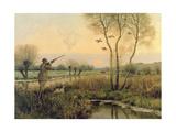 Duck Shooting Lámina giclée por Christopher William Strange