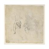 Figure Studies, C.1511 Giclée-tryk af Michelangelo Buonarroti,