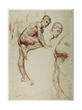 A Study of a Young Man Climbing, C.1898 Gicléetryck av Sir William Orpen