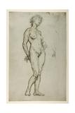 Study of a Female Figure, 1898 Gicléetryck av Sir William Orpen