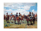 Soldiers on Horseback Giclee Print by Jean-Louis Ernest Meissonier
