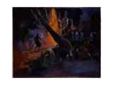 Upa Upa (The Fire Dance) 1891 Giclée-Druck von Paul Gauguin
