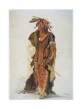 Wahk-Ta-Ge-Li, a Sioux Warrior Stampa giclée di Karl Bodmer
