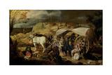 Soldiers Ambush a Cart and Passengers, Between 1600-1647 Giclée-Druck von Sebastian Vrancx
