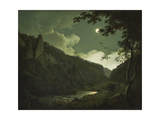 Dovedale by Moonlight, C.1784-85 Giclee Print by Joseph Wright of Derby