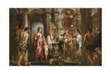 An Oracle (Thetis and Achilles before the Oracle) before 1643 Giclee-trykk av Jacob Jordaens