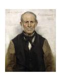 Old Willie - the Village Worthy, 1886 Giclée-Druck von Sir James Guthrie
