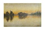 Sunset, Herblay, 1889 Gicléetryck av Paul Signac