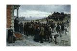 The Strike (Pittsburgh, 1877), 1886 Giclée-tryk af Robert Koehler