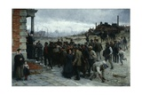 The Strike (Pittsburgh, 1877), 1886 Giclee Print by Robert Koehler