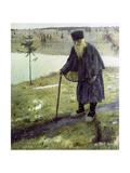 The Hermit Giclee Print by Mikhail Vasilievich Nesterov
