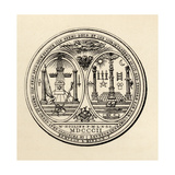 Masonic Seal, 1802, from 'The History of Freemasonry, Volume III', Published by Thomas C. Jack,… Giclée-vedos