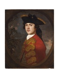 Portrait of a Gentleman in a Red Jacket Giclee-trykk av Sir Joshua Reynolds