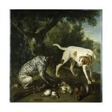 Two Pointers Belonging to the 3rd Earl of Burlington with Dead Game in a Landscape, 1713 Reproduction procédé giclée par Alexandre-Francois Desportes