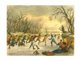 Ball Play on the Ice, 1853 Giclee Print by Seth Eastman