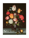 Still Life with Fruit and Flowers Giclee Print by Ambrosius The Elder Bosschaert