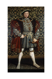 Portrait of King Henry VIII, after 1557 Reproduction procédé giclée par Hans Holbein the Younger