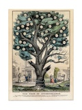 The Tree of Intemperance, Published by N. Currier, New York, 1849 Giclée-tryk af Currier & Ives,