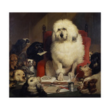 Trial by Jury, or Laying Down the Law, C.1840 Giclée-tryk af Edwin Henry Landseer