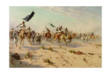 The Flight of the Khalifa at the Battle of Omduran, 1898 Giclee Print by Robert George Talbot Kelly