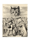 The King of Hearts Arguing with the Executioner, from 'Alice's Adventures in Wonderland' by Lewis… Giclee-trykk av John Tenniel