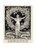 A Garland for May Day, 1895 Lámina giclée por Crane, Walter
