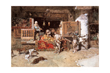 The Tapestry Merchant, 1870 Giclée-tryk af Mariano Fortuny y Marsal