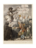 The First Day of Term - or the Devil Among Lawyers Giclee Print by Robert Dighton