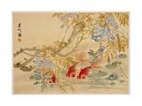 Poissons rouges Reproduction procédé giclée par Ni Tian
