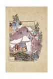 Tur Beheads Iraj, C.1530-35 Giclée-tryk af Sultan Muhammad
