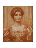 Portrait of Hilda Virtue Tebbs, 1897 ジクレープリント : エドワード・ロバート・ヒューズ