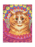 A Psychotic Cat Reproduction procédé giclée par Louis Wain