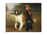 Off to School, 1883 Giclee Print by Charles Burton Barber