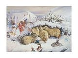 Fairies in the Snow Giclee-trykk av John Anster Fitzgerald