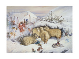 Fairies in the Snow Giclee Print by John Anster Fitzgerald