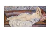 Reclining Nude Gicléetryck av Theo van Rysselberghe