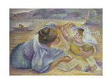 Mother Playing with Her Child, C.1897 Giclee Print by Henri-Edmond Cross