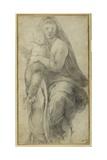 La Vierge et l'Enfant Reproduction procédé giclée par  Raphael