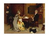Consulting Her Lawyer, 1892 Reproduction procédé giclée par Frank Dadd