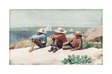 Watching the Ships, Gloucester, 1875 Giclee Print by Winslow Homer