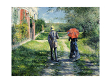 The Path Uphill, 1881 Giclee Print by Gustave Caillebotte