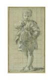 A Young Boy Standing Giclée-tryk af Bartolomeo Schedoni