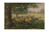 The Shepherdess Gicléedruk van William Kay Blacklock