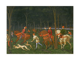 The Hunt in the Forest, C.1465-70 (Detail) Giclée-tryk af Paolo Uccello