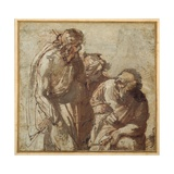 St Peter Denies Christ Giclée-tryk af Pier Francesco Mola