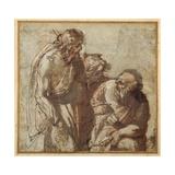 St Peter Denies Christ Lámina giclée por Pier Francesco Mola