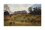 The Cheshire Hunt - the Meet at Calveley Hall Giclee Print by George Goodwin Kilburne