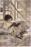 A Girl Reading, from 'A Child's Garden of Verses' by Robert Louis Stevenson, Published 1885 Reproduction procédé giclée par Jessie Willcox-Smith