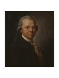 Portrait of German Writer and Publisher Christoph Friedrich Nicolai, 1783 Giclée-tryk af Anton Graff